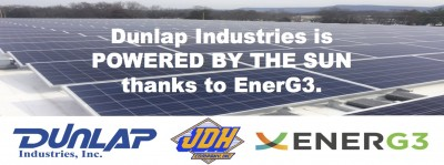 Dunlap Industries is Powered by the Sun Thanks to EnerG3