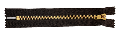 Metal - Brass Zipper rotated no background