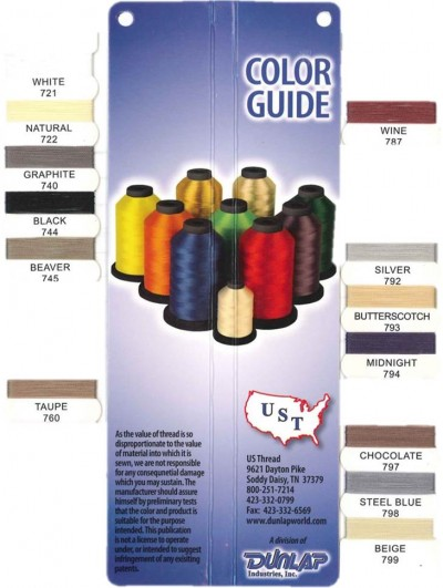 UST New Bonded Nylon Color Card