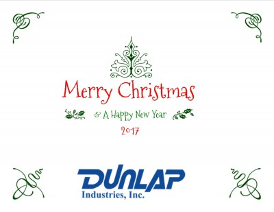 Merry Christmas & A Happy New Year From Dunlap Industries Inc 2017